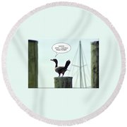 Foul Fowl Round Beach Towel