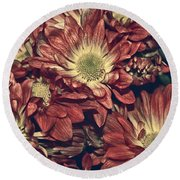 Foulee De Petales - 04b Round Beach Towel by Variance Collections