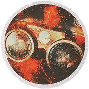 Foundry Formations Round Beach Towel