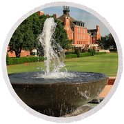 Fountain And Union Round Beach Towel
