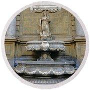 Fountain At Quattro Canti In Palermo Sicily Round Beach Towel