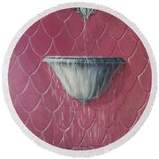 Fountain Of Youth Round Beach Towel
