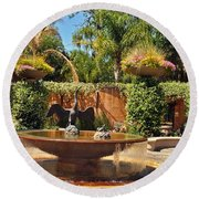 Fountain Of Zoo 2 Round Beach Towel