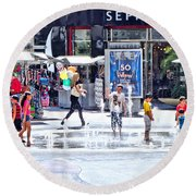 Fountain Party Round Beach Towel