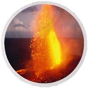 Fountaining Kilauea Round Beach Towel