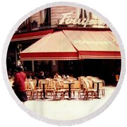 Fouquets Of Paris 1955 Round Beach Towel