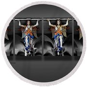 Four Angels Of The Corvey Abbey Round Beach Towel