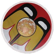 Four Corners - Haida Round Beach Towel