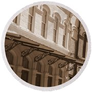 Four Corners In New Orleans Round Beach Towel