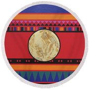 Four Corners - Seminole Round Beach Towel