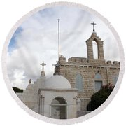 Four Crosses Round Beach Towel