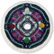 Four Directions Round Beach Towel