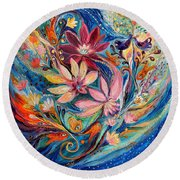 Four Elements IIi. Water Round Beach Towel