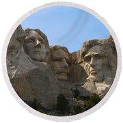 Four Former U S Presidents Round Beach Towel