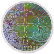 Four Hearts Intertwined Round Beach Towel