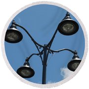 Four Lamps Round Beach Towel