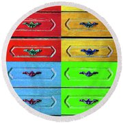 Four Possibilities 2 Round Beach Towel