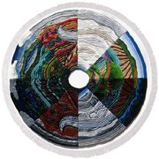 Four Seasons - Day And Night Round Beach Towel
