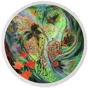 Four Seasons Of Vine Summer Round Beach Towel