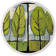 Four Seasons Tree Series Round Beach Towel