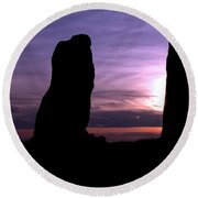 Four Stones Folly Clent Hills Round Beach Towel