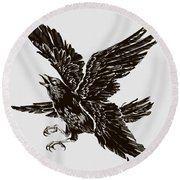 Four Wings Round Beach Towel