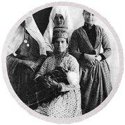 Four Women From Bethlehem Round Beach Towel