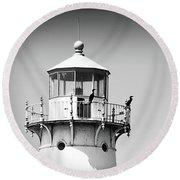 Fourteen Foot Shoal Lighthouse Round Beach Towel