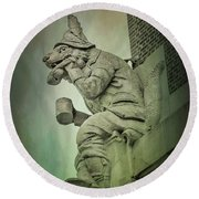 Fox Grotesque Round Beach Towel