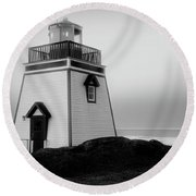 Fox Point Lighthouse Round Beach Towel