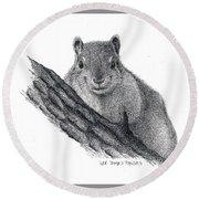 Fox Squirrel Round Beach Towel