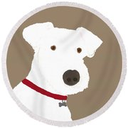 Fox Terrier Round Beach Towel