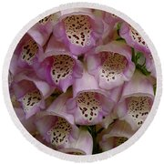 Foxglove Upclose Round Beach Towel