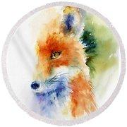 Foxy Impression Round Beach Towel