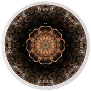 Fractal 4 Round Beach Towel
