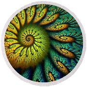 Fractal Abstract 061710 Round Beach Towel