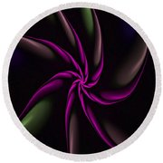 Fractal Abstract 070110 Round Beach Towel