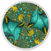 Fractal Art - Gifts From The Sea By H H Photography Of Florida Round Beach Towel