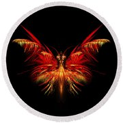 Fractal Butterfly Round Beach Towel