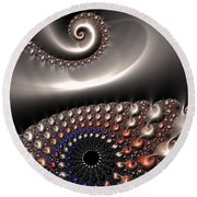 Fractal Contact Round Beach Towel