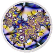 Fractal Containment Round Beach Towel