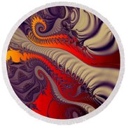 Fractal Fill Round Beach Towel