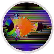 Fractal Fishy Round Beach Towel