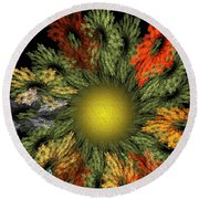 Fractal Floral 12-05-09 Round Beach Towel