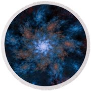 Fractal Floral Fantasy 072010 Round Beach Towel