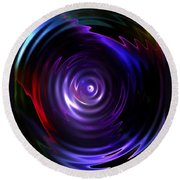 Fractal Lake Round Beach Towel