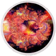 Fractal Layered Round Beach Towel