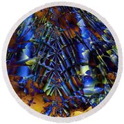 Fractal Of The Day Round Beach Towel