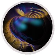 Fractal Of The Day Se02 Ep02 Wings Round Beach Towel