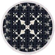 Fractal Patterns Round Beach Towel